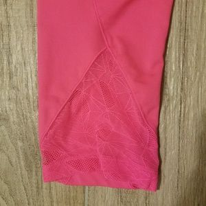 Hot pink Under armour workout pants